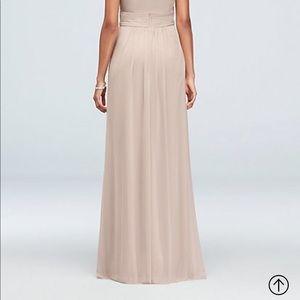 David's Bridal Dresses - David's Bridal HighNeck Bridesmaid Dress